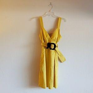 Joy Han Vava Voom Yellow Elephant Dress